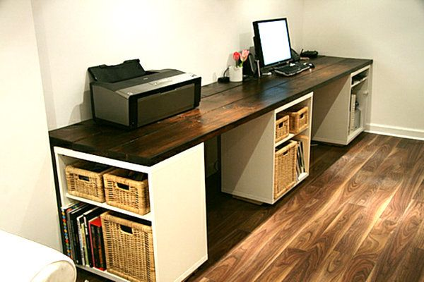DIY Desk. Creatively organized home office boosts your mood and make you more productive.