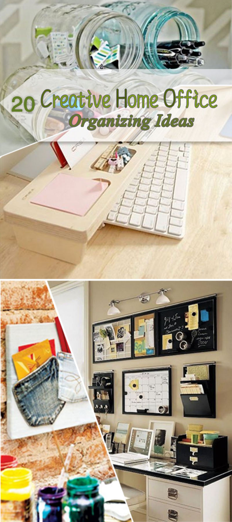 Creative Home Office Organizing Ideas!