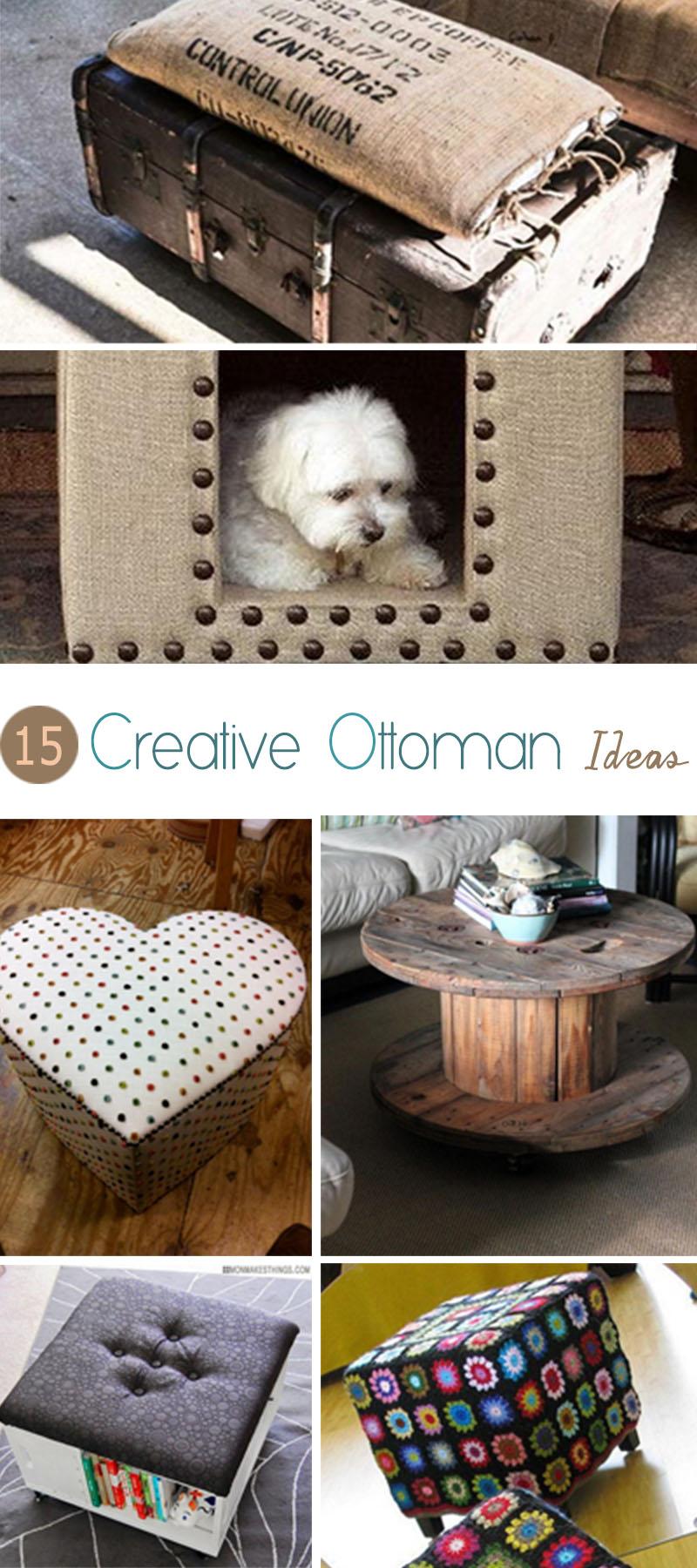 15 creative ottoman ideas hative - Creative diy ottoman ideas ...