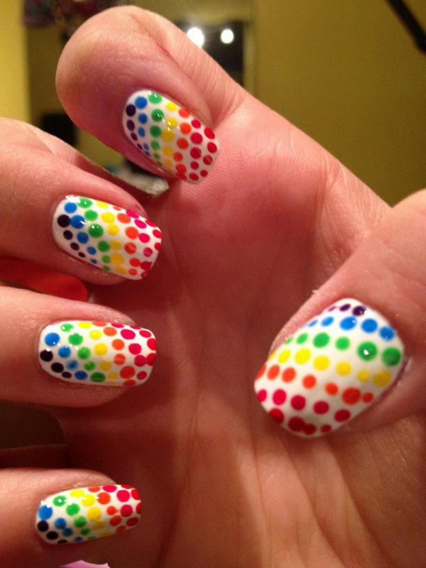 Cute Polka Dot Nail Art. Polka dot is a pattern consisting of an array of - 25 Cute Polka Dot Nail Designs - Hative