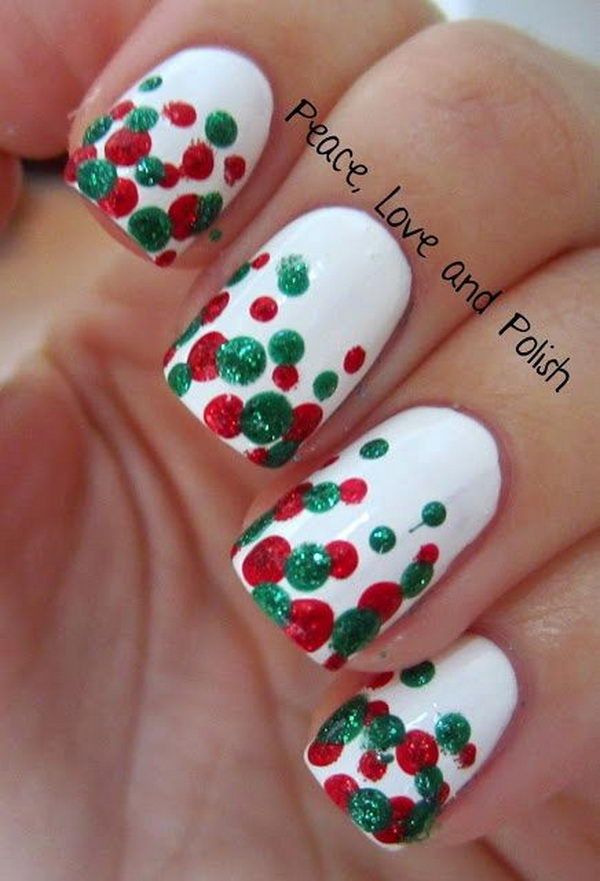 Christmas Design For Short Nails : Cute polka dot nail designs hative