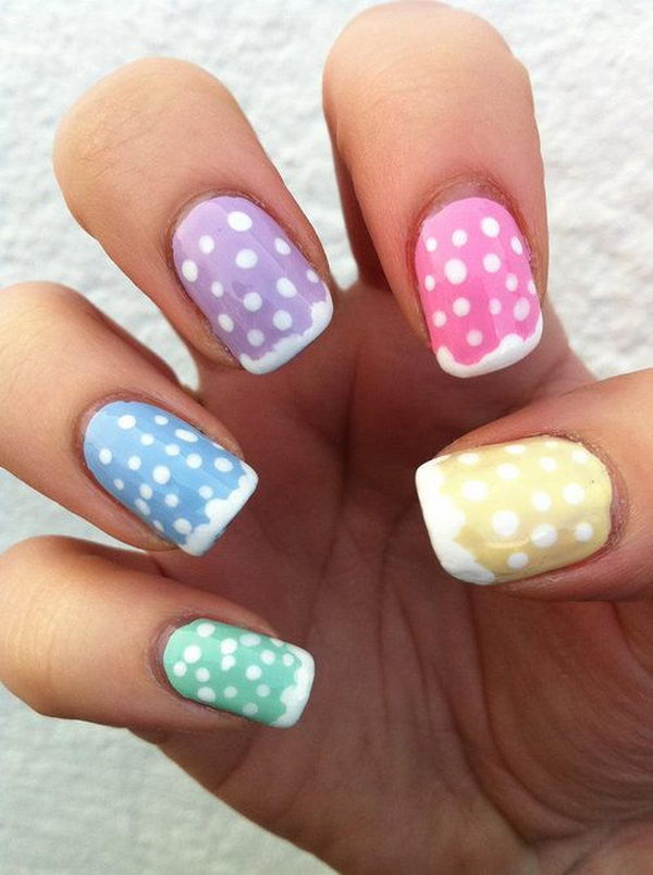 25 Cute Polka Dot Nail Designs Hative