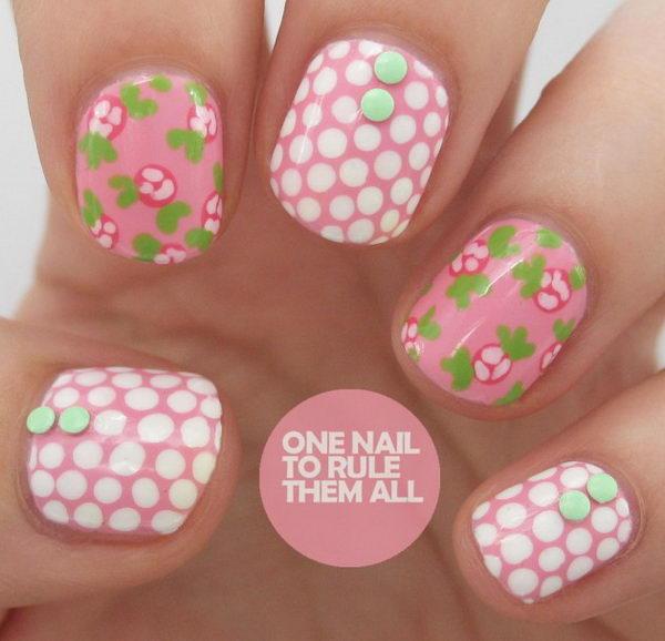 25 Cute Polka Dot Nail Designs Hative