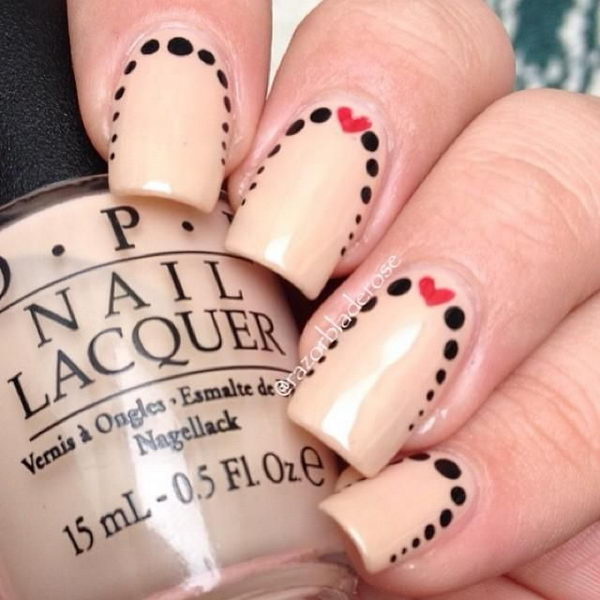 Cute Polka Dot Nail Art Is A Pattern Consisting Of An Array