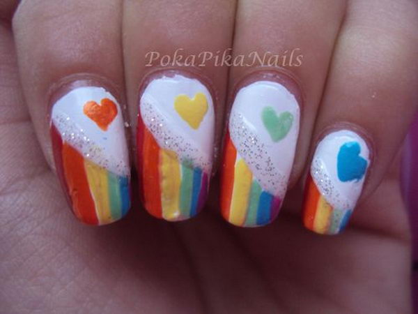 15 Cool Rainbow Nail Designs Hative