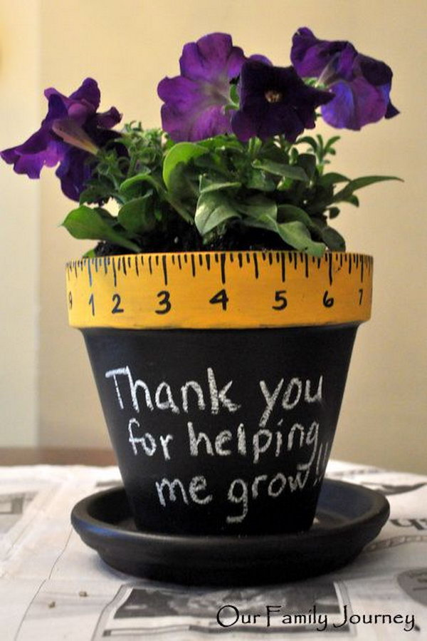 Thank you for helping me growing. Rulers are not only used to measure things but also can be used to create some creative things. Perfect for back to school or teacher gifts.