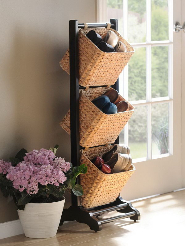 Basket Tower for Shoes Storage 15 Creative