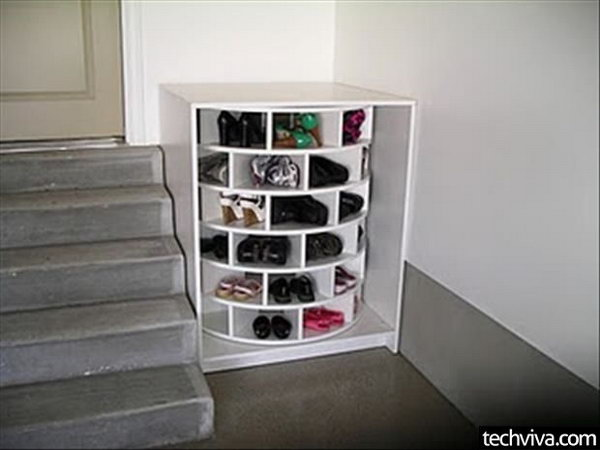 Merveilleux Round Shoe Rack For Storage,