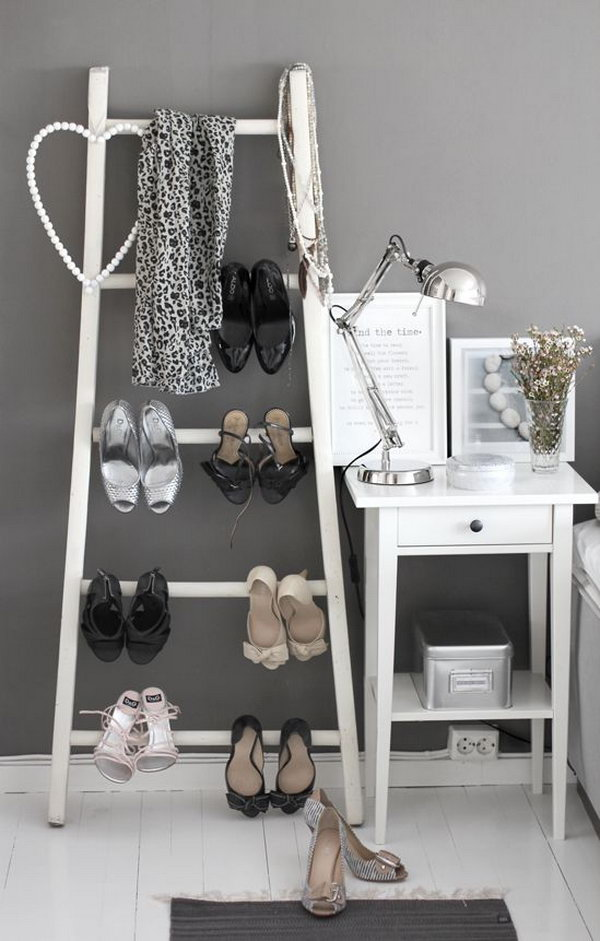Ladder Shoes Storage 15 Creative Shoes Storage