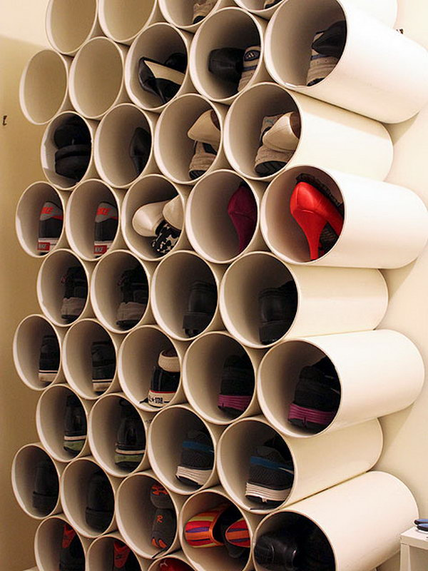 Stacked PVC Pipes,