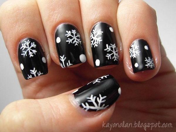 Cool Snowflake Nail Art. As symbols of the winter season, snowflake nail art  are - 20 Cool Snowflake Nail Art Designs - Hative