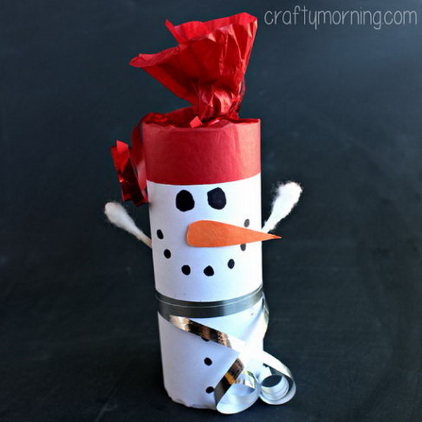 Toilet Paper Roll Snowman. Add charm to any Christmas tree or gift box, and make charming and thoughtful holiday presents for friends and family members.