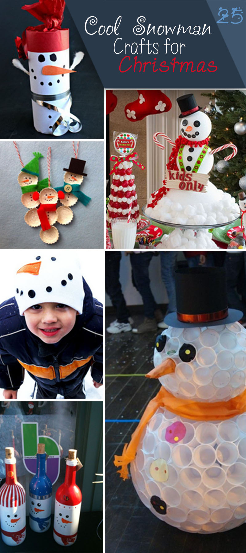 Cool Snowman Crafts for Christmas!