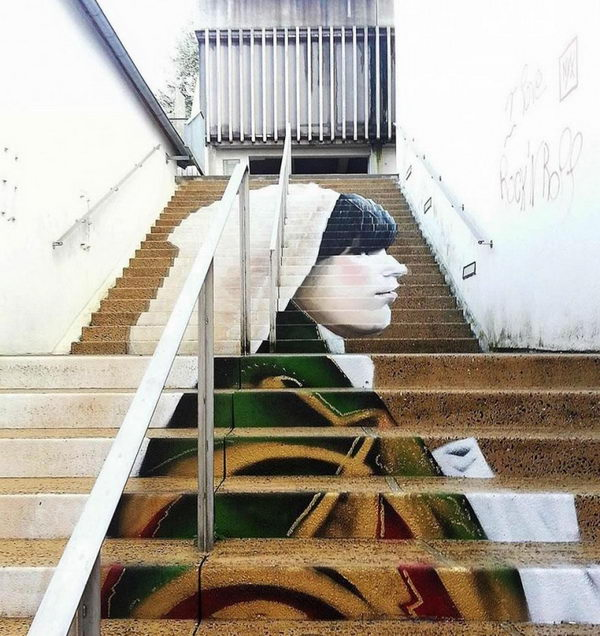 Stairs street art http hative awesome stairs street art