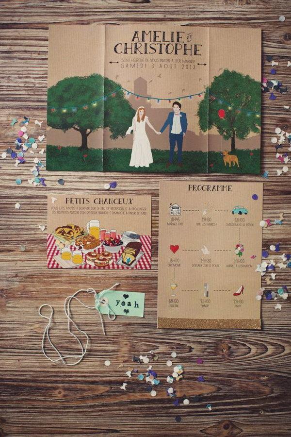 Cute Wedding Stationery.