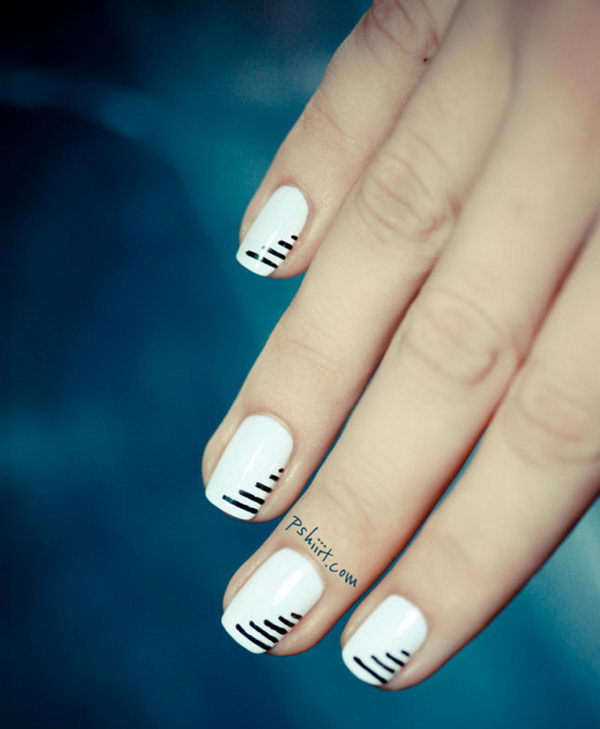 New Home Designs: Cool Stripe Nail Designs