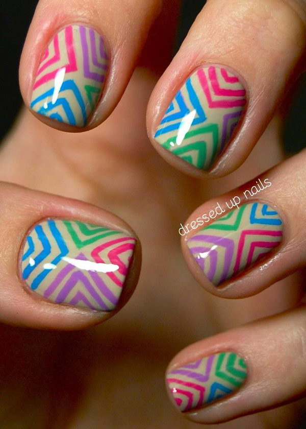 stripe on nail #9