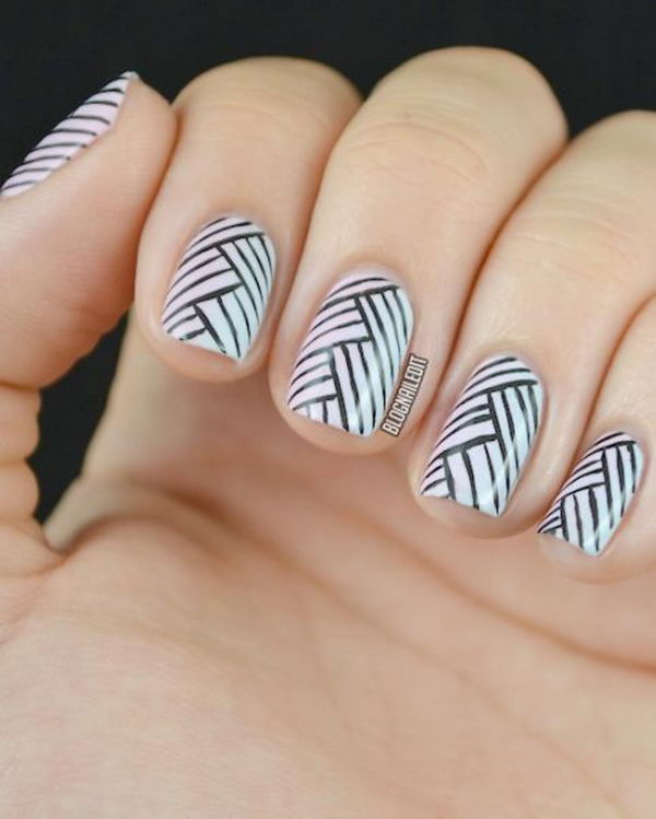 Cool Stripe Nail Designs Hative