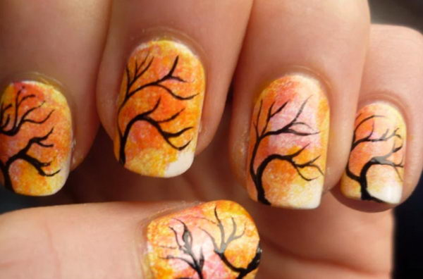 30 cool thanksgiving and fall nail designs hative cool thanksgiving and fall nail designs an interesting way to dress up your look for prinsesfo Image collections