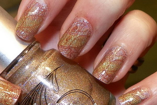 Cool Thanksgiving and Fall Nail Designs. An interesting way to dress up your look for fall.