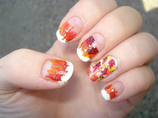 30 cool thanksgiving and fall nail designs hative cool thanksgiving and fall nail designs an interesting way to dress up your look for prinsesfo Choice Image