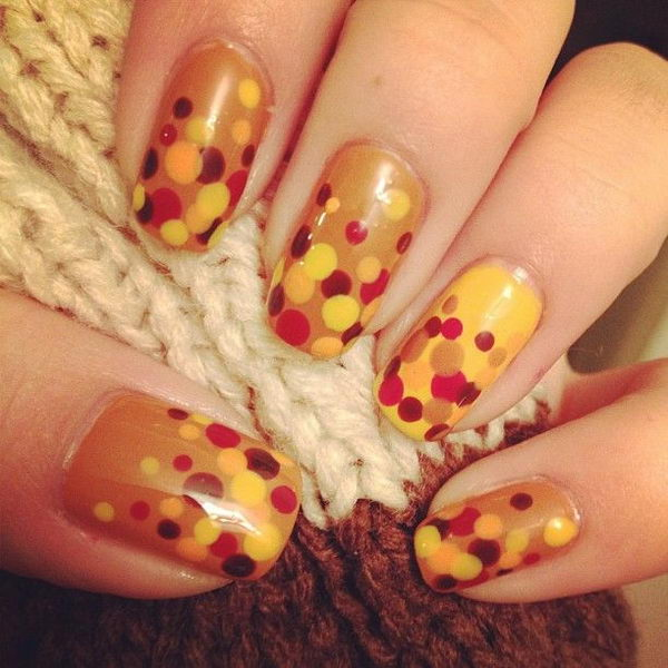 Cool Thanksgiving and Fall Nail Designs. An interesting way to dress up  your look for - 30 Cool Thanksgiving And Fall Nail Designs - Hative