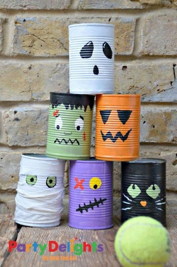 20 recycled tin can craft ideas hative for Christmas crafts out of tin cans