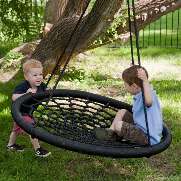 Alternative tire swing.