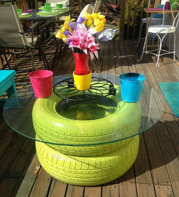 DIY tire table.