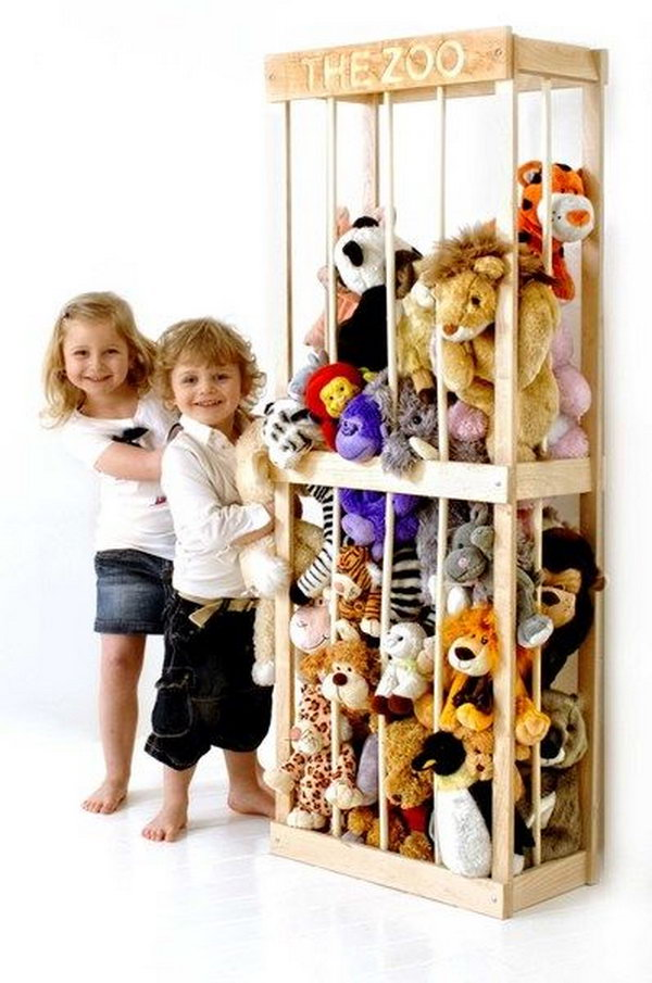 zoo soft toy storage solution,