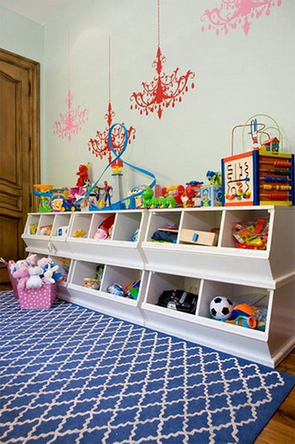 20 creative toy storage ideas hative. Black Bedroom Furniture Sets. Home Design Ideas