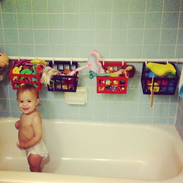 bath toy storage solution,