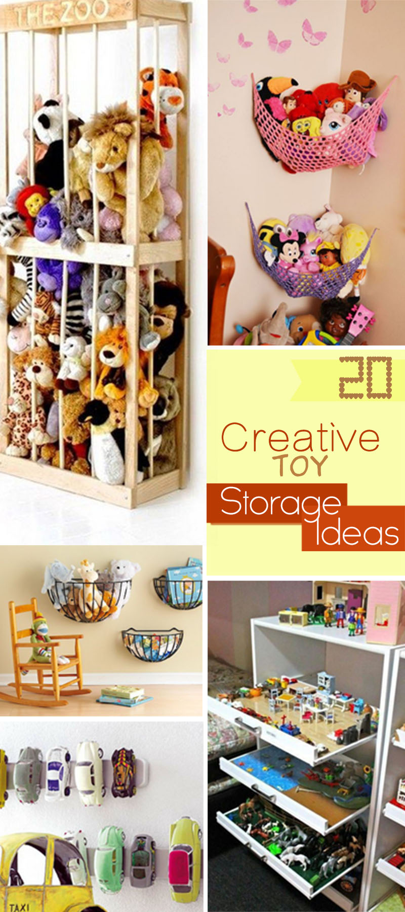 Creative Toy Storage Ideas 20 Creative Toy