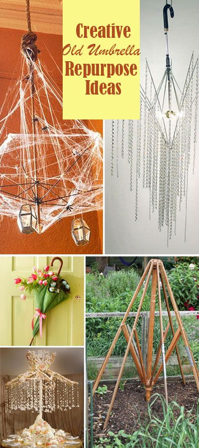 These great repurpose ideas will give your old umbrella a new life!