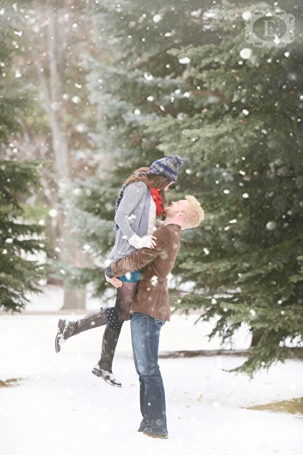 Choose winter engagement photos to capture the winter wonderland that awaits them outdoors it is