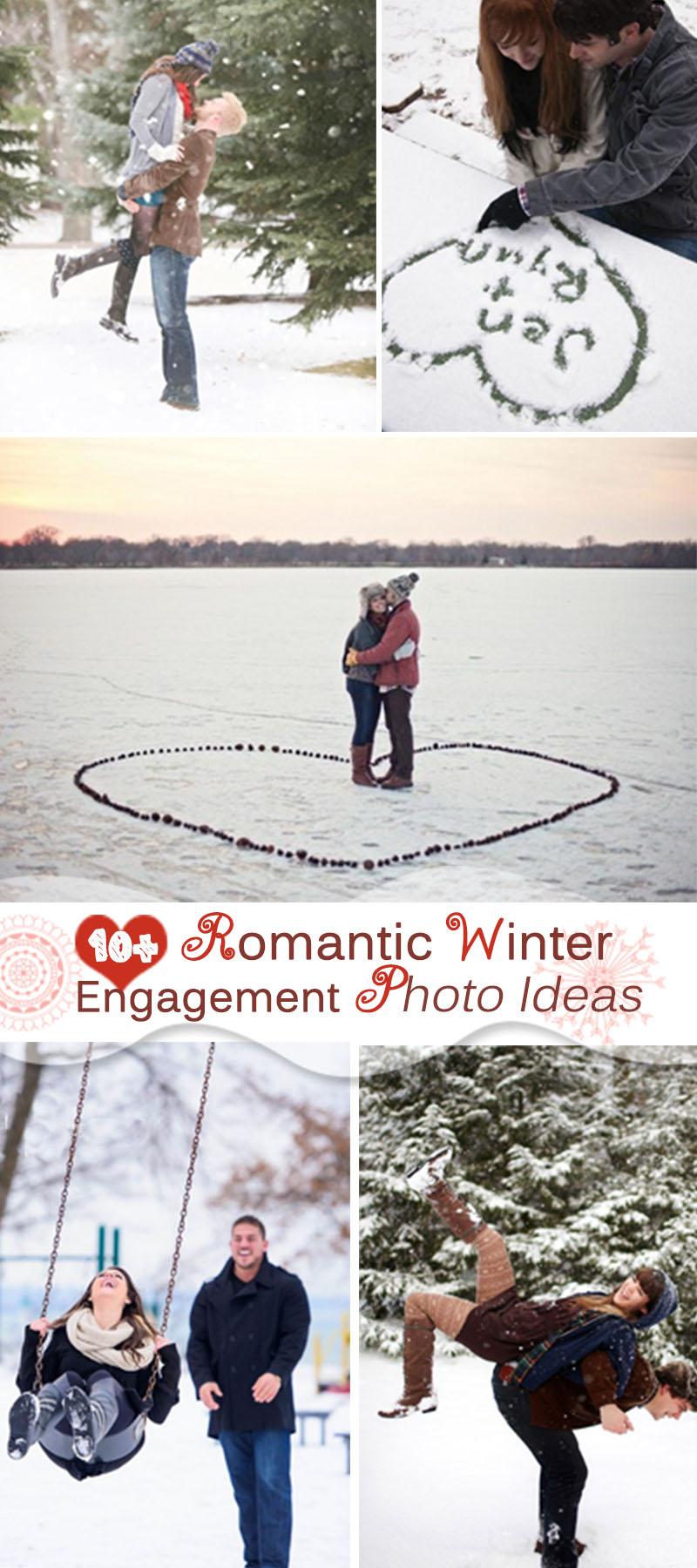 Romantic Winter Engagement Photo Ideas!