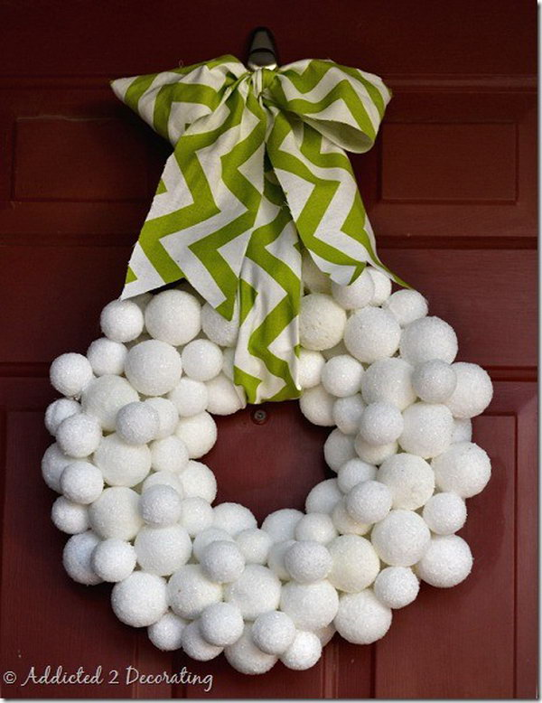 Snowball Wreath.