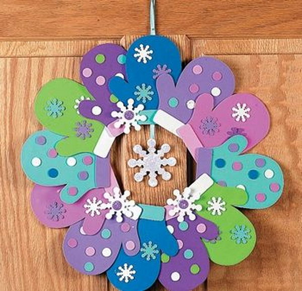 Paper Craft Wreath.