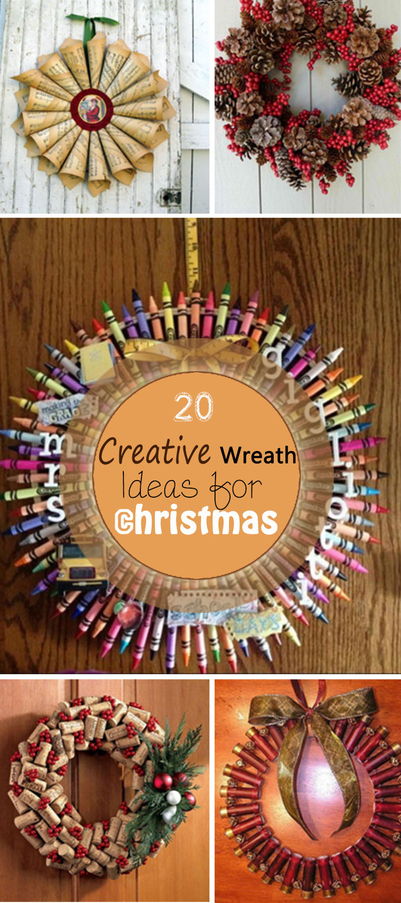 Lots of Creative Wreath Ideas for Christmas!