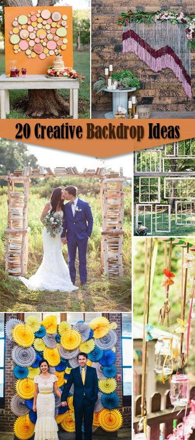 Creative Backdrop Ideas For Big Occasions!