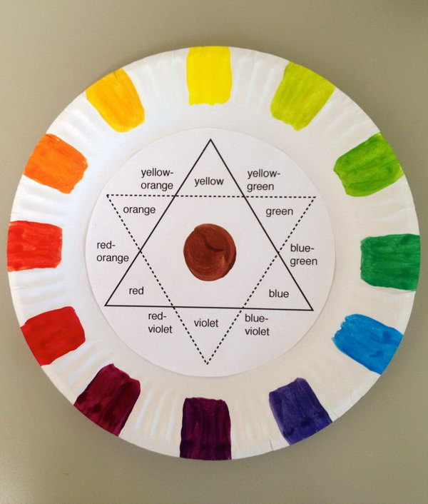 Making this paper plate color wheel teaches students how to mix the colors they want while & Creative Color Wheel Project Ideas - Hative