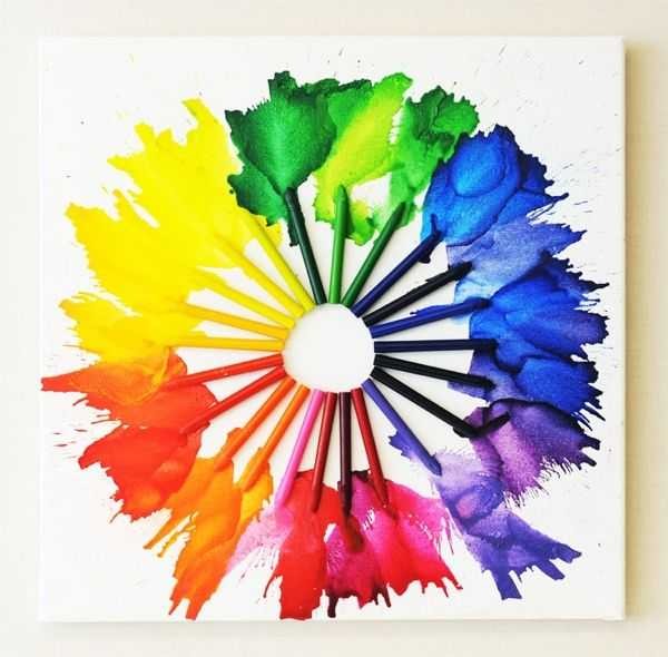 Color Wheel Project Ideas Melted Crayon Color Wheel