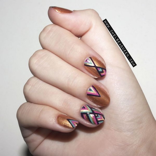 Geometric nail art hative geometric nail art prinsesfo Images