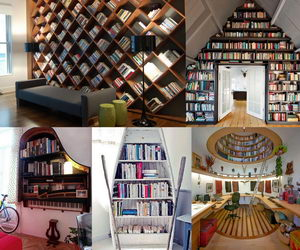 home-library-ideas-collage