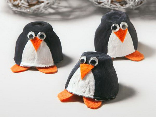 Egg Carton Penguin,