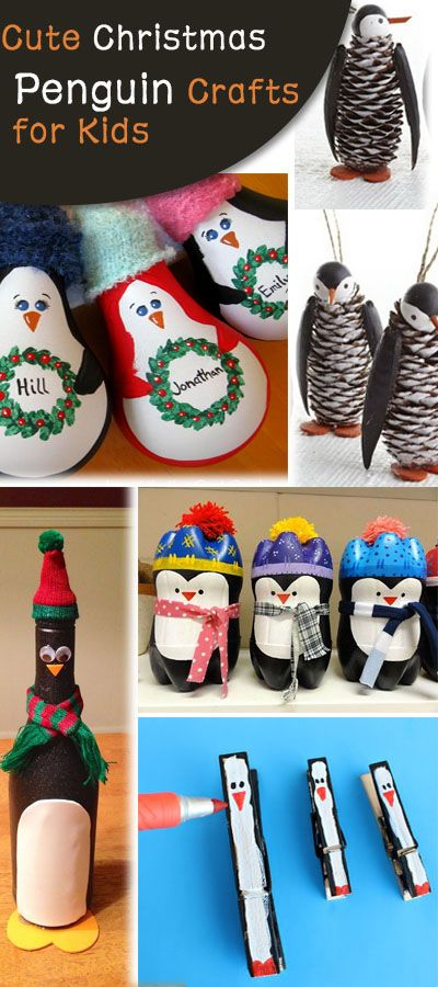 Cute Christmas Penguin Crafts for Kids!