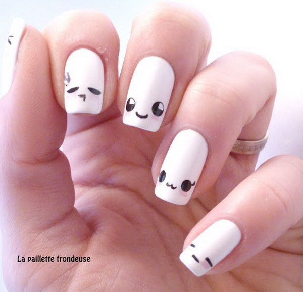 Cute And Happy Smiley Face Nails Hative