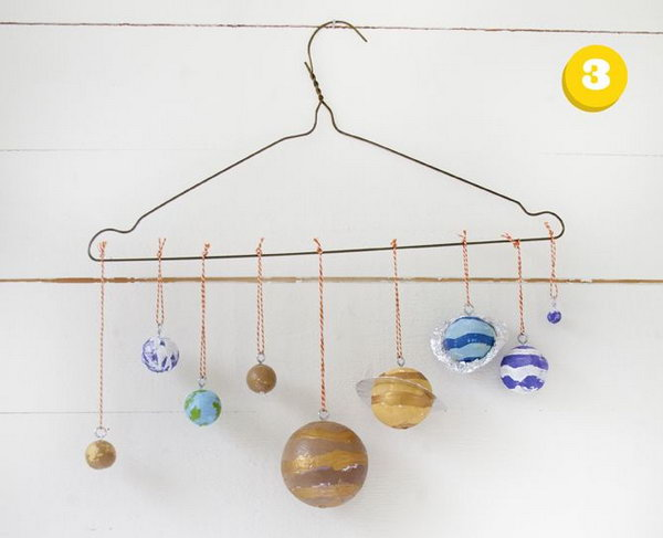 handmade solar system mobile - photo #24