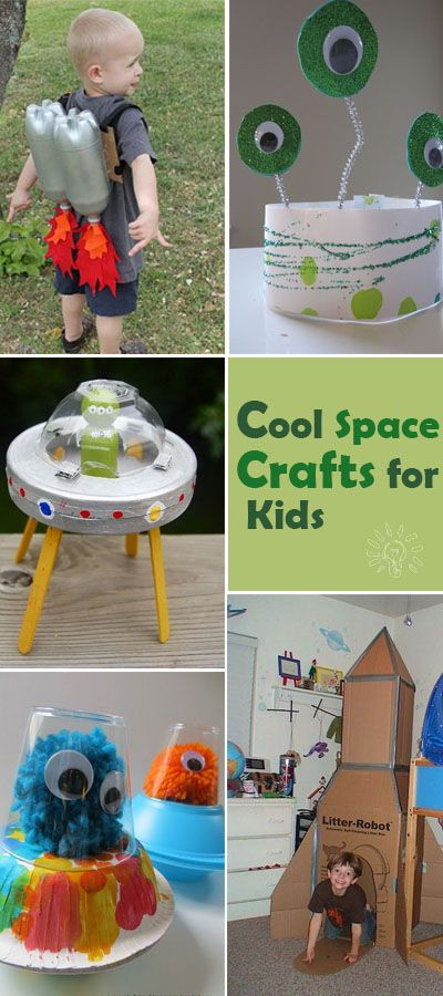 These cool space crafts add a creative spin and make the scientific topic more interesting for curious kids!