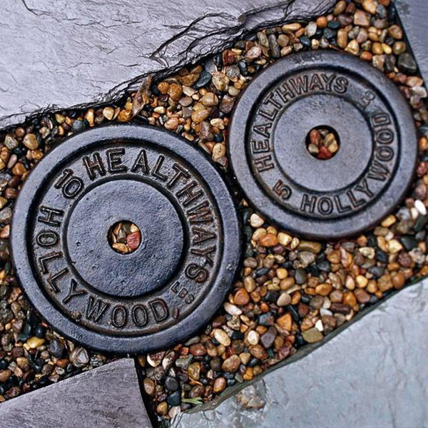 Weights Stepping Stone. Not only functional but also can be used to decorate your garden. Make the walk in your garden more exciting and fun.